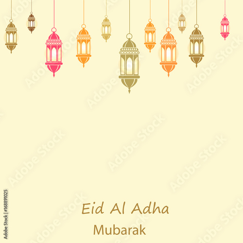 Islamic festival of sacrifice eid al adha mubarak greeting card islamic festival of sacrifice eid al adha mubarak greeting card vector background m4hsunfo