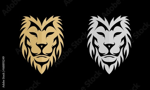 Fototapety, obrazy: Gold and Silver Lion Vector