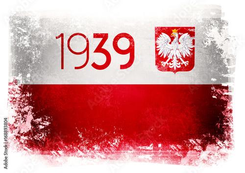 Poster  Flaga Polski 1939