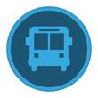 App Icon blau Busbahnhof