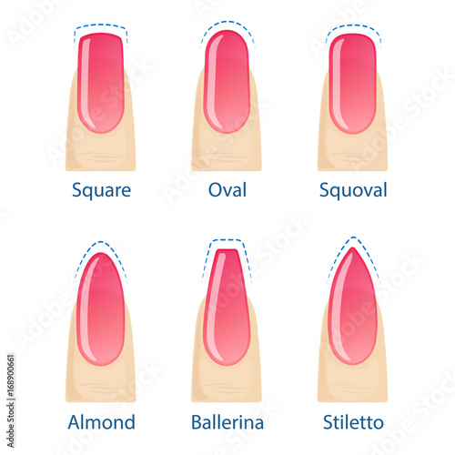 Photo Set of nails shapes