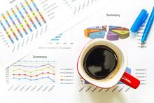 Black Coffee In Red Mug On Bus...