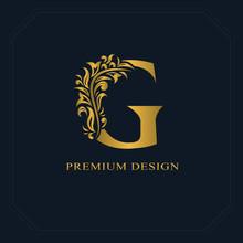 Gold Elegant Letter G. Gracefu...