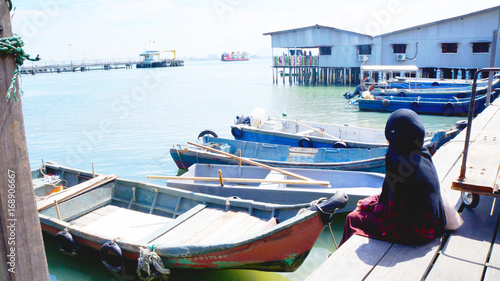 Foto op Aluminium Tunesië Fisherman's Village