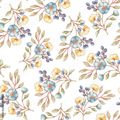 Tapety SHABBY-CHIC  kwiatowy-wzor
