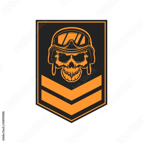 Foto  Paratrooper skull with wings