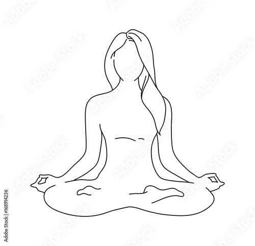 Woman Yoga Pose Lotus Position Silhouette Vector Illustration Meditation Monochrome Icon Buy This Stock Vector And Explore Similar Vectors At Adobe Stock Adobe Stock