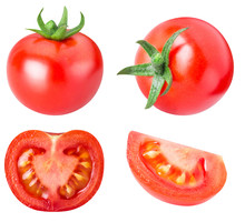 Collection Of Red Tomatoes Iso...