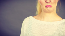 Woman Having Disgusted Face Ex...