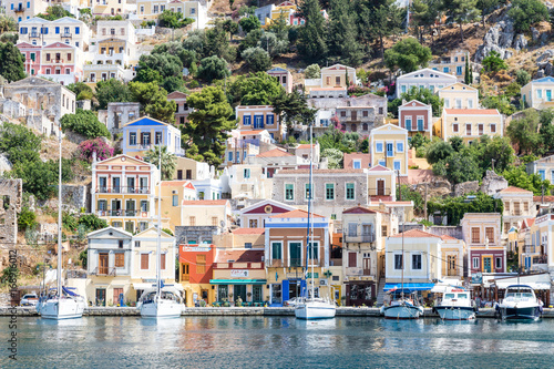 Fototapety, obrazy: View of the bay at Symi island, Greece