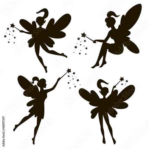 Obraz na plátně  Vector drawing of a fairy, elf