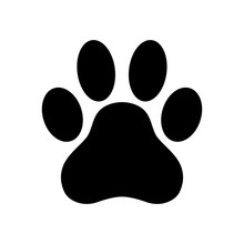 Dog Paw Print. Paw Icon. Vecto...