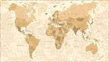 Fototapeta Fototapety dla młodzieży do pokoju - World Map Vintage Vector