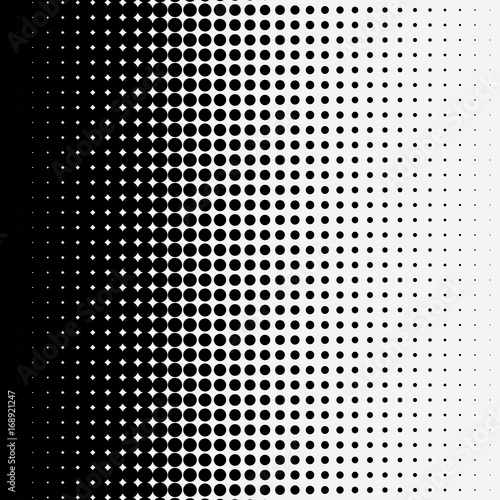 Valokuvatapetti Halftone dots on white background