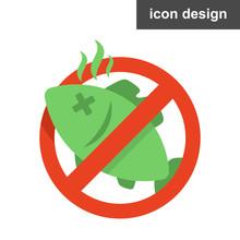 Vector Icon Sticker Stop Spoil...