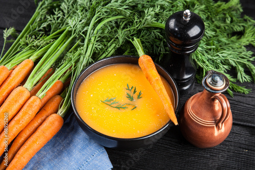 Foto  Carrot cream soup