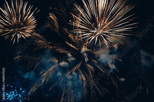 Stampa su Tela Amazing colorful fireworks