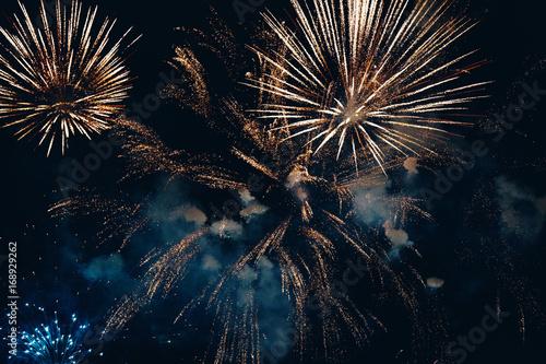 Amazing colorful fireworks Billede på lærred