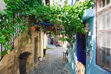 Narrow Street On Rhodes Island...