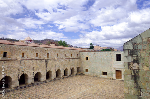 Big Patio in Monastery in Oaxaca Canvas Print