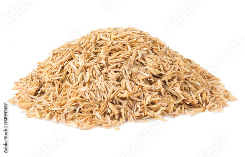 Fotografía  Rice hulls isolated on white background