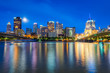 Skyline of Pittsburgh, Pennsylvania fron Allegheny Landing across the Allegheny River