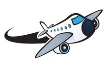 Plane Clipart Flying