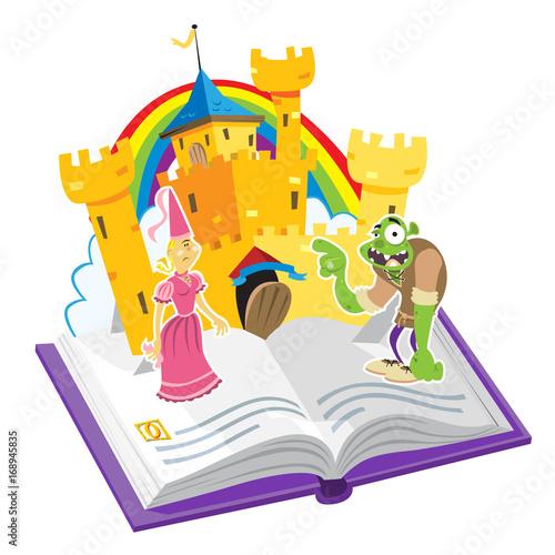 Printed kitchen splashbacks Castle Pop Up Book