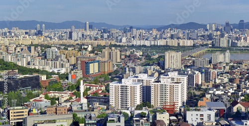The sprawling city of Seoul, in South Korea located roughly 35 miles from the DM Poster