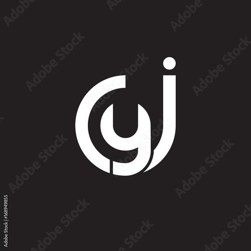 Initial Lowercase Letter Logo Jy Yj Y Inside J Monogram Rounded Shape