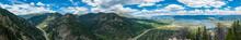 Panorama Of Mountains, Winding...