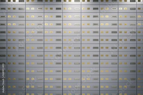 Fototapeta safe deposit boxes or strongboxes background obraz
