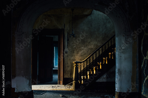 Grand Staircase at Foyer - Abandoned House