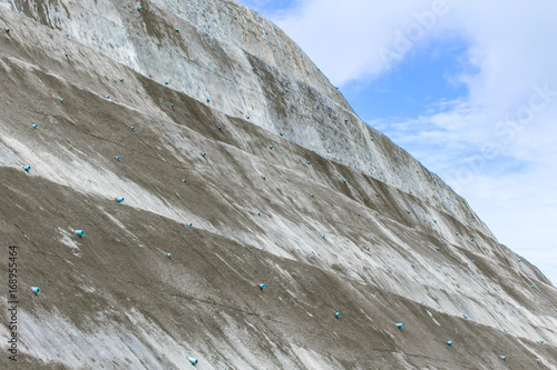 landslide protection with reinforced concrete walls or spray concrete technic Tablou Canvas