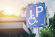 Disability Car Parking Sign To...