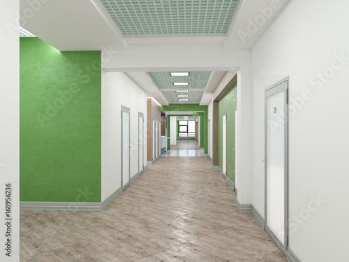 Fotografie, Tablou  Public interior  3D rendering.