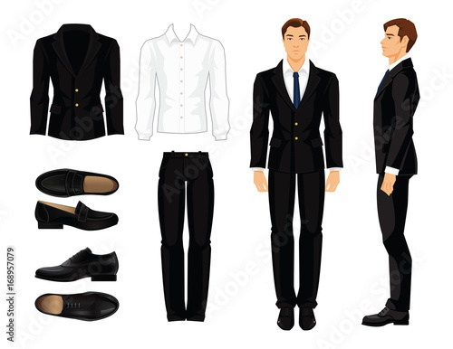 Vector Illustration Of Corporate Dress Code Businessman Or