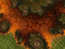 Fractal Created Based On The Data. It Is A Mix Of Tundra,  Pine Forests And Many Other Plants. Organic Structure Of The Ornament Resembles The Natural Conditions Of The World