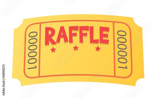Fotomural Raffle Ticket