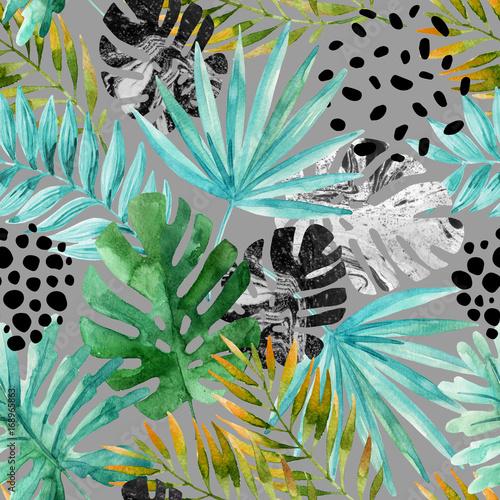 recznie-rysowane-streszczenie-tropikalny-tlo-lato