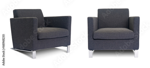 Valokuva  Grey Armchair in two angles