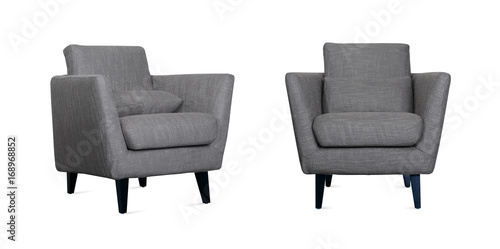 Grey Armchair in two angles Wallpaper Mural