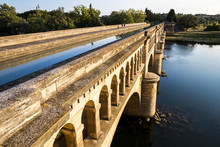 The Pont-canal De L'Orb In Beziers, A Canal Bridge Part Of The Canal Du Midi In Southern France. A World Heritage Site Since 1996