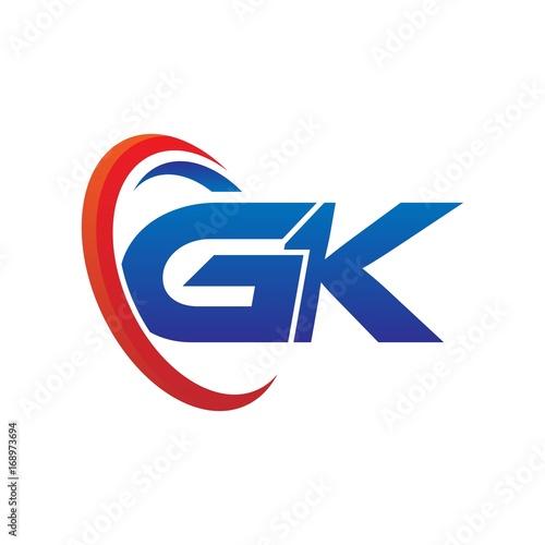 modern dynamic vector initial letters logo gk with circle swoosh red rh stock adobe com g logo gk logistics tracking