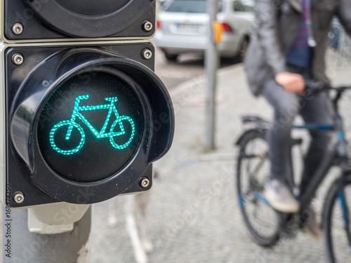 Zdjęcie XXL Światło rowerowe z rowerzystą