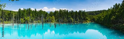 Photo  北海道 美瑛町 青い池