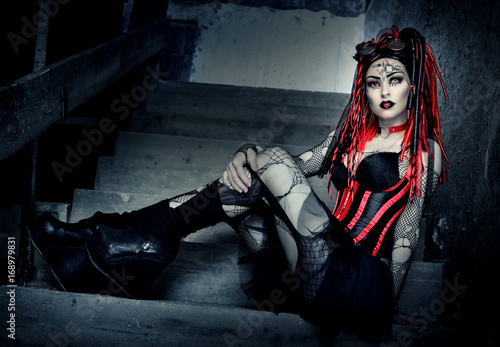 Fotografie, Obraz  Cyber Goth Girl - Gothic