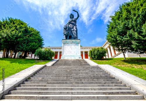 Photo Stands Historic monument statue of bavaria