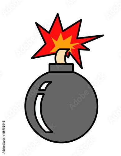 Fotografie, Obraz  爆弾(カラー、点火)