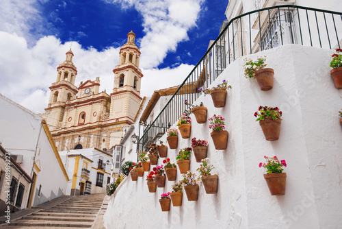 View of Olvera village, one of the beautiful white villages (Pueblos Blancos) of Andalucia, Spain